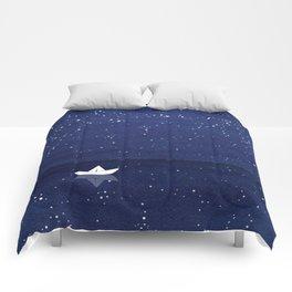 Zen sailing, ocean, stars Comforters