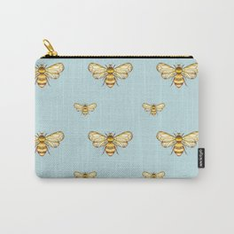 Bumblebee on Mint Carry-All Pouch