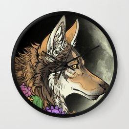 coyote night Wall Clock