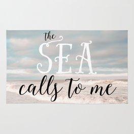 The Sea Calls to Me Rug