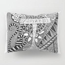 "Hand Drawn ""One"" Pillow Sham"