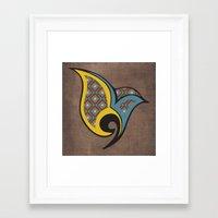 persian Framed Art Prints featuring Persian Bird by Katayoon Photography