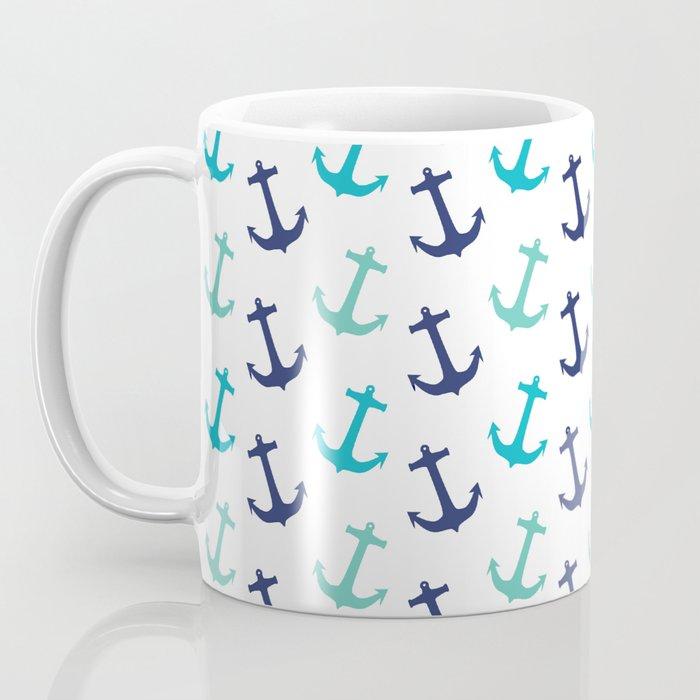 Minty Anchors Coffee Mug
