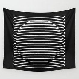 Circle over black Wall Tapestry