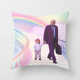PawPaw Bernie Throw Pillow