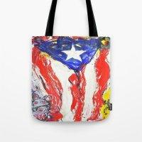 puerto rico Tote Bags featuring Puerto Rico by Joel Gonzalez