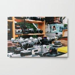Vintage Cameras at Portobello Market Metal Print