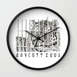 Boycott Zoos Wall Clock