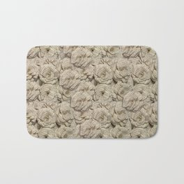 Book Page Flower Roses Bath Mat