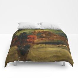 "Eugène Delacroix ""Horse and Three Men"" Comforters"