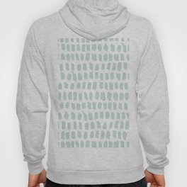 Minty strokes and abstract pastel stripes pattern design Hoody