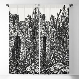 Devastation of the Second World War ( California, drawing in high resolution ) Blackout Curtain