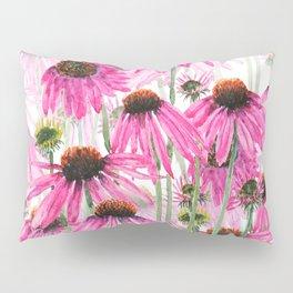 pink coneflower field Pillow Sham