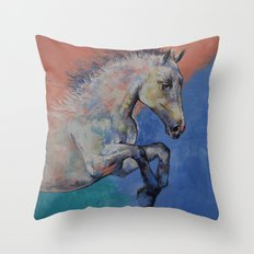 Graceful Jets Throw Pillow