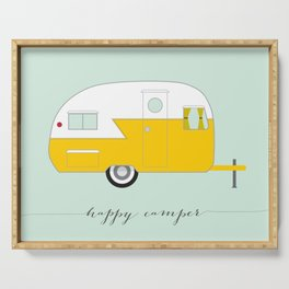 Yellow Happy Camper Serving Tray