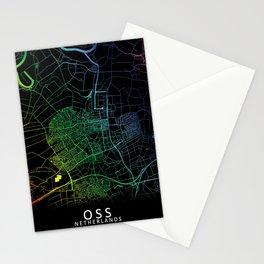 Oss, Netherlands, Rainbow, City, Map Stationery Cards