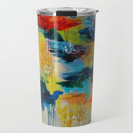 VANCOUVER RAIN - Stunning Rainbow Colorful Bold bright Rain Clouds Stormy Day Wow Abstract Painting Travel Mug