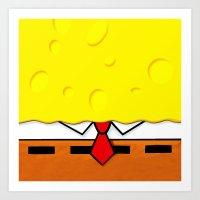 spongebob Art Prints featuring Spongebob  by Andrian Kembara