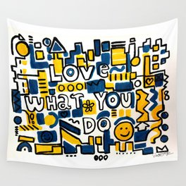 Fun LOVE and colorful art BED COMFORTER or Shower Curtain Wall Tapestry