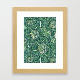 dreaming cabbages Framed Art Print
