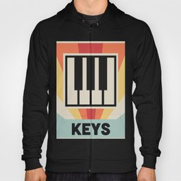 Vintage Style KEYS Poster | Synthesizer Design Hoody
