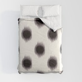 Ikat Dots Black and White Comforters