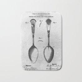 Spoon handles Bath Mat