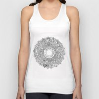 calendar Tank Tops featuring Mayan Calendar by Mantis Galleries
