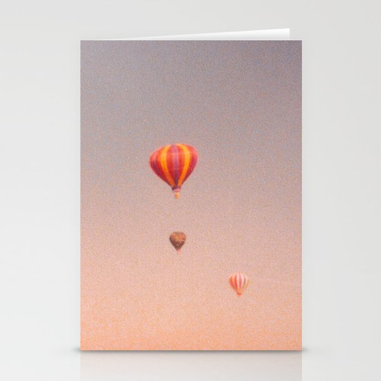 vintage hot air balloons in rio Stationery Cards
