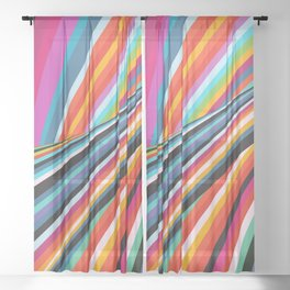 Stripe In Motion Sheer Curtain