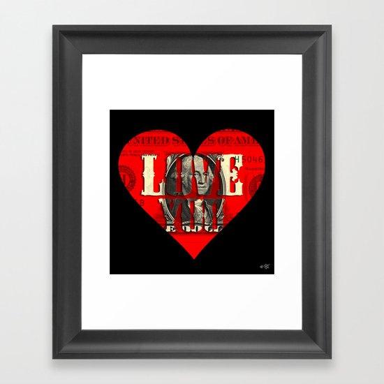 Modern Times - Real Love Framed Art Print