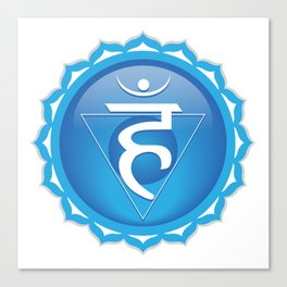 Throat Chakra Symbol Canvas Print