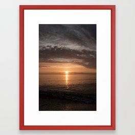 Presque Isle Sunset Framed Art Print