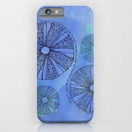 Blue Sea Urchin iPhone Case