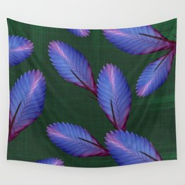 Tillandsia in emerald green Wall Tapestry