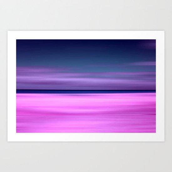 purple beach IX Art Print