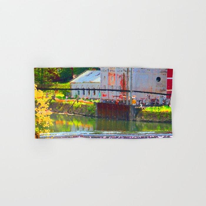 Pointillism: Snoqualmie Falls Hand & Bath Towel
