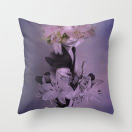 The girl who wanted to be a flower Throw Pillow
