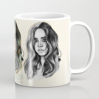west coast Mugs featuring   West Coast  by vooce & kat