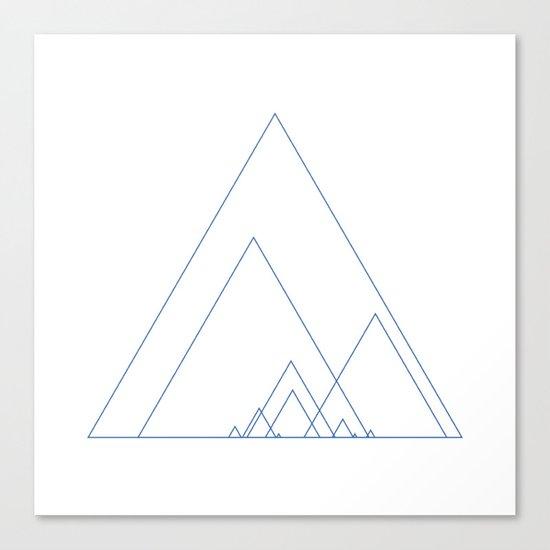 #390 Grand ridge – Geometry Daily Canvas Print