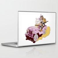 guns Laptop & iPad Skins featuring Girls & Guns by Jokin de Cerio