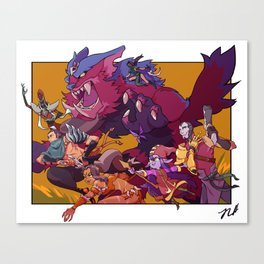 Team Fight Canvas Print