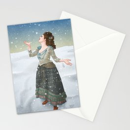 Idris in the Snow Stationery Cards
