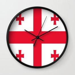 Flag of georgia-Georgia,Sakartvelo, Causasus,georgeian,საქართველო ,Tbilisi,causasus,Georgian,ქართული Wall Clock
