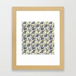 CAT KATZ Framed Art Print