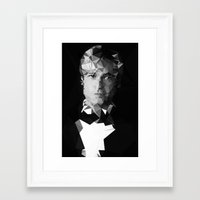 brad pitt Framed Art Prints featuring BRAD by THE USUAL DESIGNERS