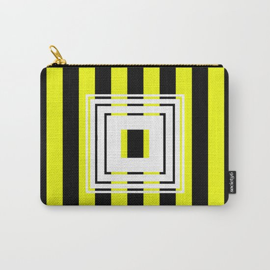 Bumblebee Box - Geometric, bold, yellow and black striped design Carry-All Pouch
