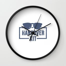 Hangover kit funny gift Wall Clock