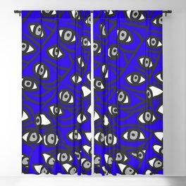 Freddie Eyeballs Sapphire Blue Blackout Curtain