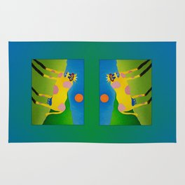Udderly Abstract 7 - Funny Cow Art Rug